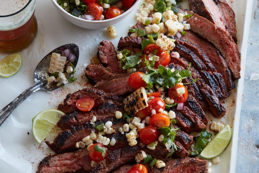 Chipotle Flank Steak with Corn Salsa