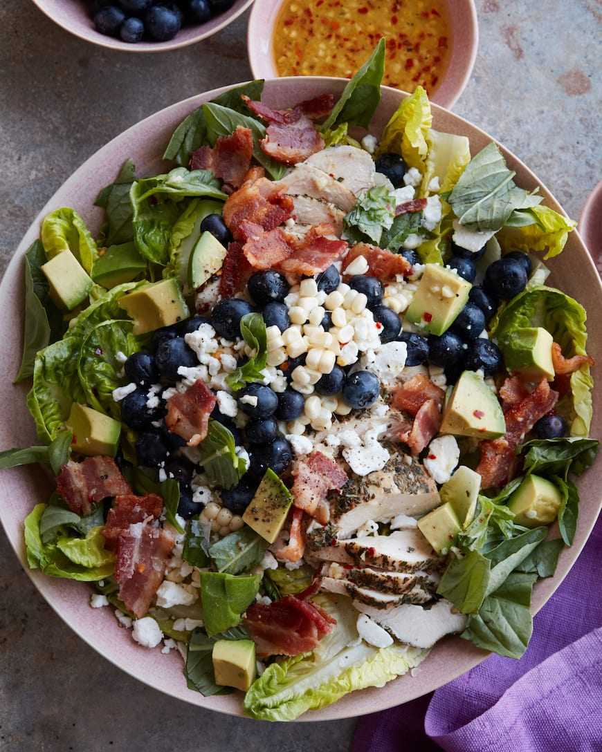 Grilled Chicken Summer Power Salad from www.whatsgabycooking.com (@whatsgabycookin)