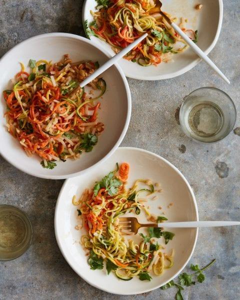 Zucchini Pad Thai from www.whatsgabycooking.com (@whatsgabycookin)