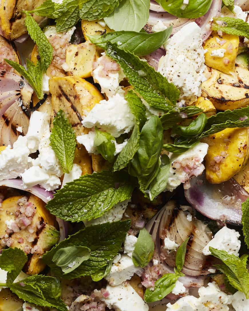 Grilled Summer Squash with Feta from www.whatsgabycooking.com (@whatsgabycookin)
