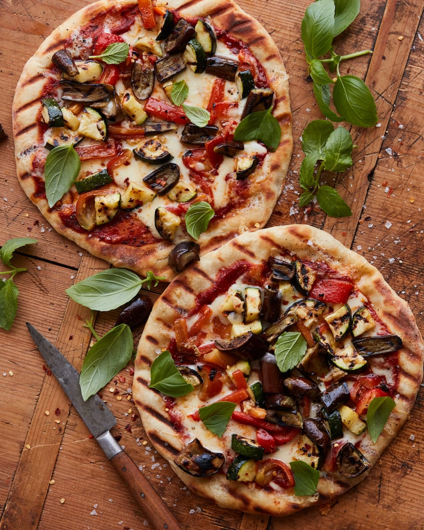 Grilled Vegetable Pizza from www.whatsgabycooking.com (@whatsgabycookin)