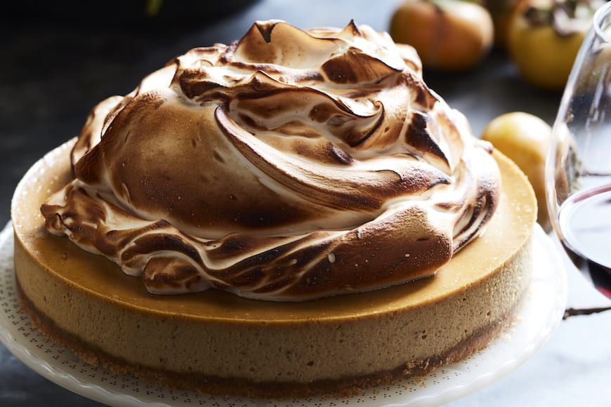 Pumpkin Cheesecake with Marshmallow Meringue Whats Gaby Cooking