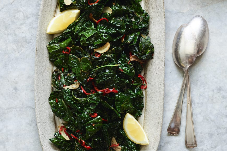 Sautéed Kale with Chiles and Lemon from www.whatsgabycooking.com (@whatsgabycookin)