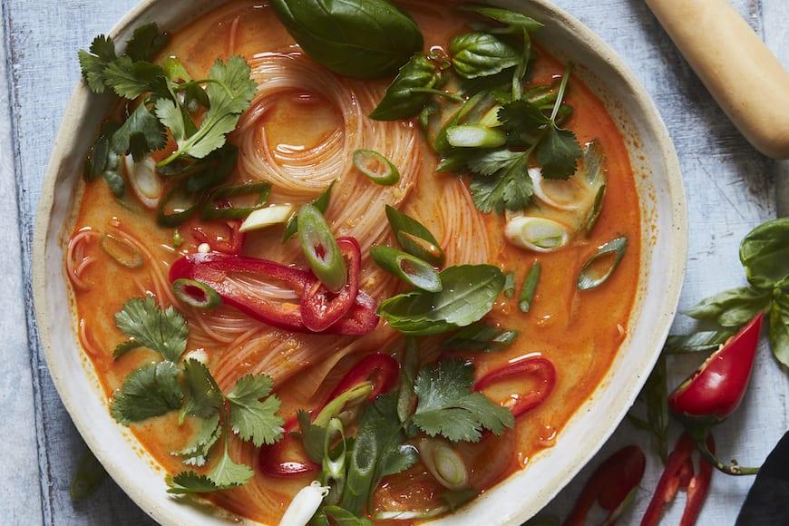 Curry Coconut Noodle Soup