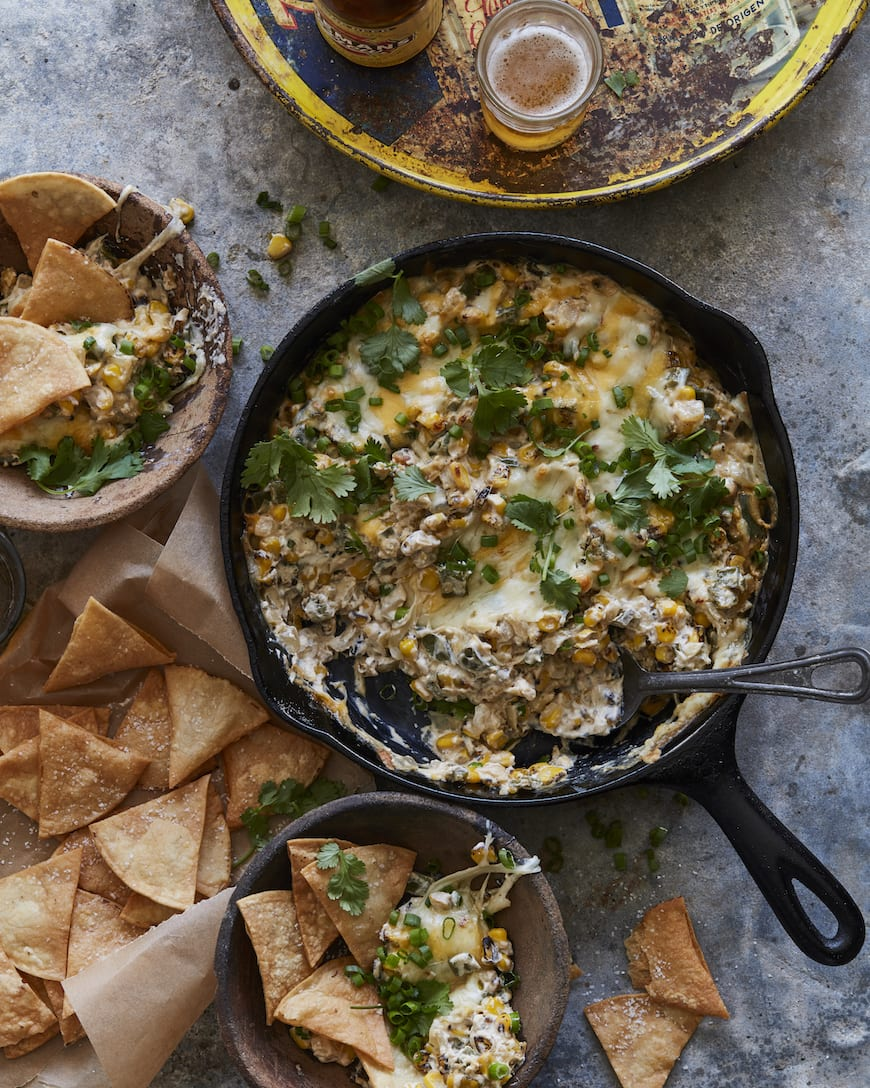 Poblano Corn Cheese Dip from www.whatsgabycooking.com (@whatsgabycookin)