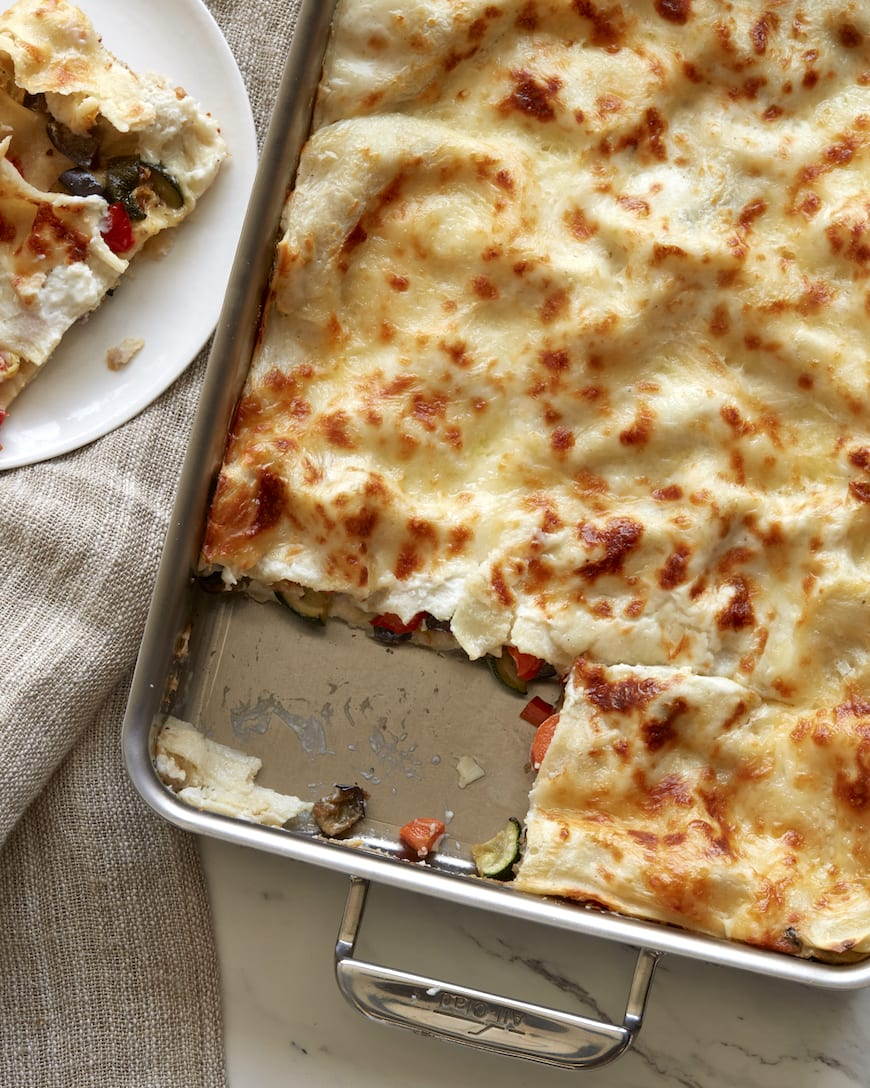 Roasted Vegetable Lasagna from www.whatsgabycooking.com (@whatsgabycookin)