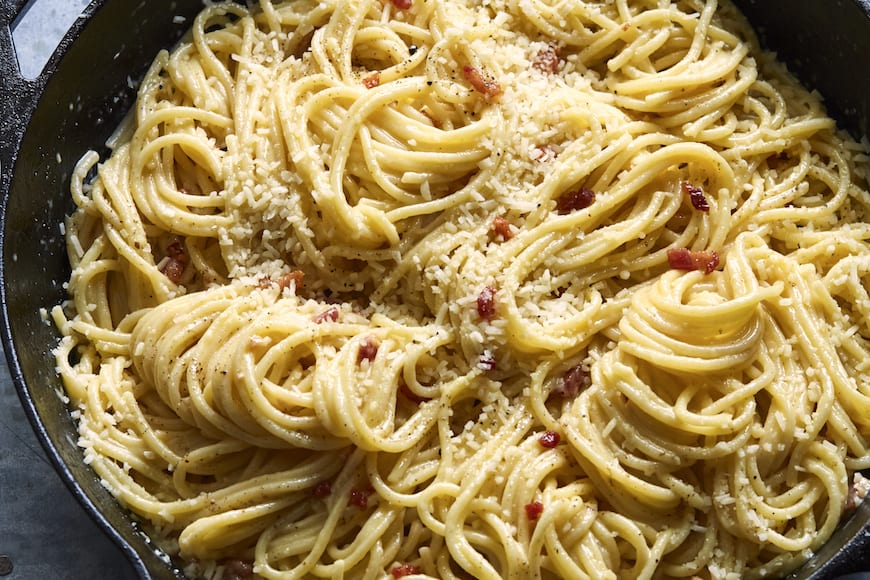 The Perfect Spaghetti Carbonara from www.whatsgabycooking.com (@whatsgabycookin)