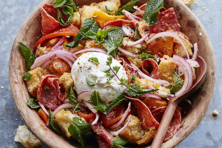 Roasted Pepper Panzanella
