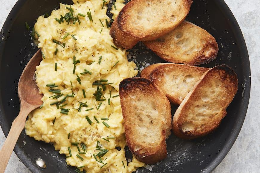 Perfectly Soft Scrambled Eggs