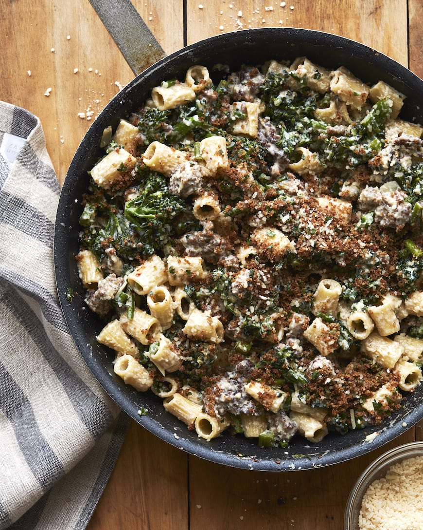 Rigatoni with Broccolini and Sausage from www.whatsgabycooking.com (@whatsgabycookin)