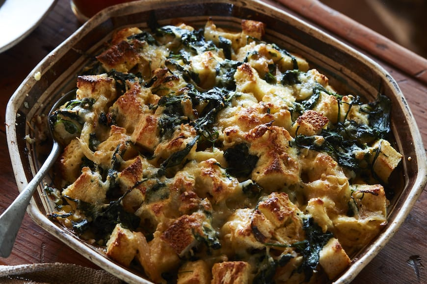 Spinach Cheese Strata from www.whatsgabycooking.com (@whatsgabycookin)