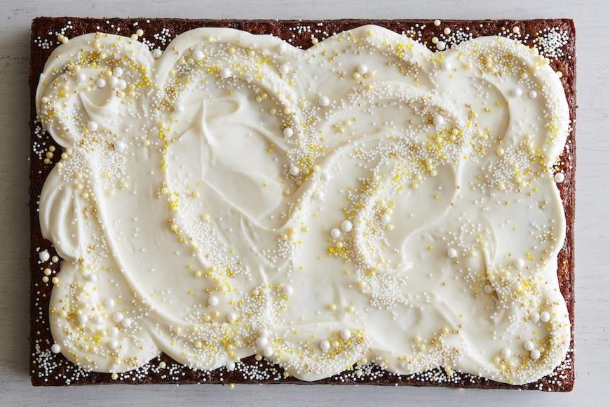 Pineapple Sheet Cake from www.whatsgabycooking.com (@whatsgabycookin)