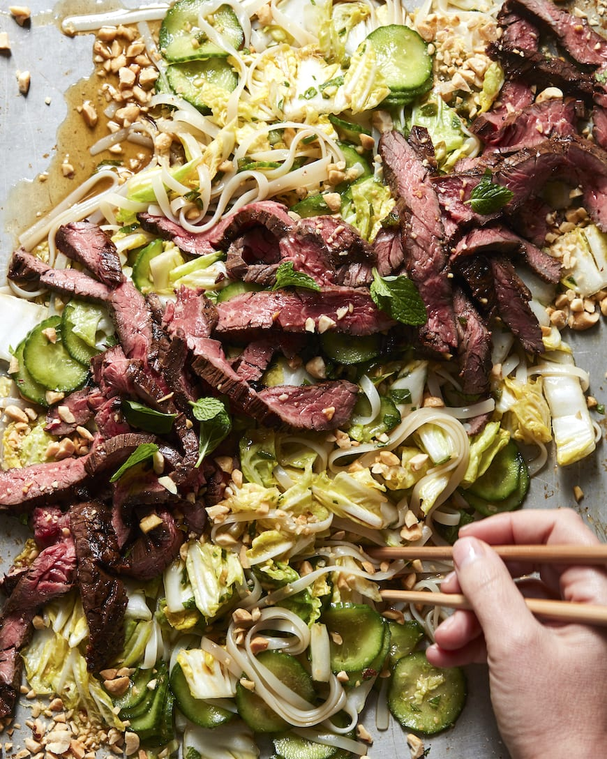 Rice Noodle Salad with Steak from www.whatsgabycooking.com (@whatsgabycookin)