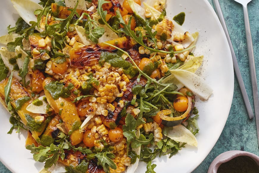 Roasted Pepper and Corn Salad