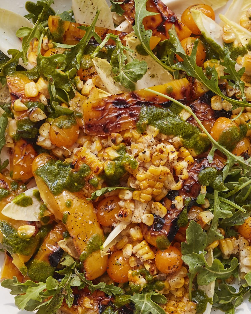 Roasted Pepper and Corn Salad from www.whatsgabycooking.com (@whatsgabycookin)