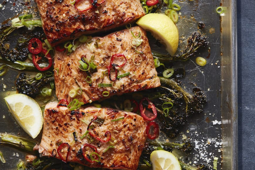 Broiled Salmon with Broccolini