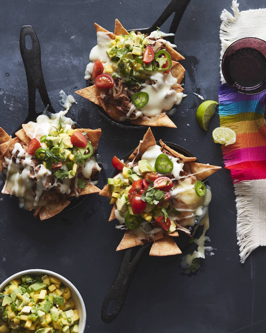 Carnitas Skillet Nachos from www.whatsgabycooking.com (@whatsgabycookin)