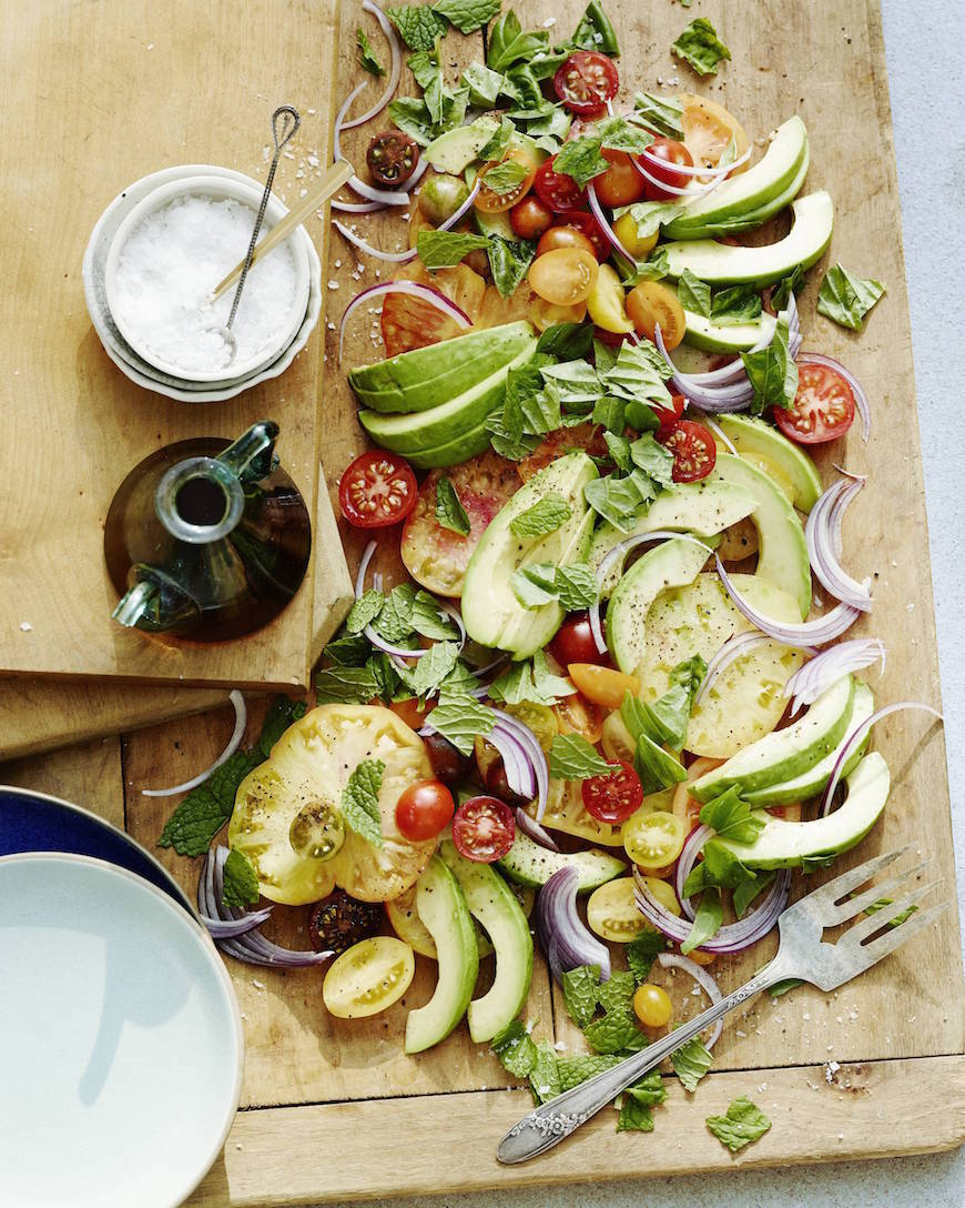 Avocado Heirloom Tomato Salad from www.whatsgabycooking.com (@whatsgabycookin)