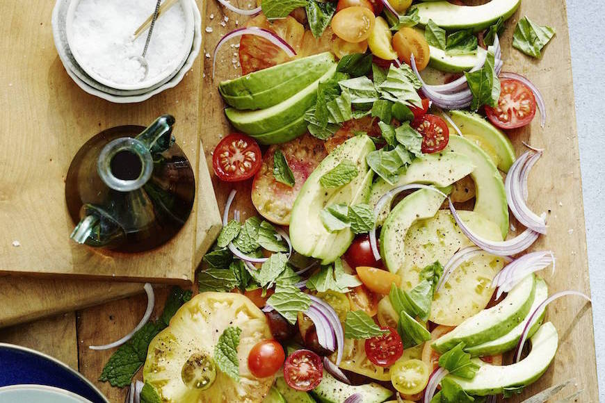 Avocado and Heirloom Tomato Salad