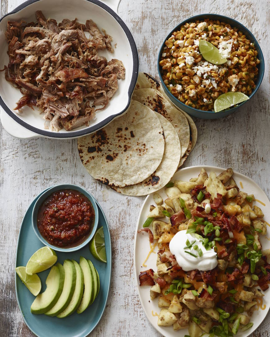 BBQ Corn Salad and Carnitas Tacos from www.whatsgabycooking.com (@whatsgabycookin)