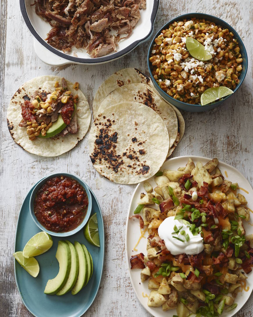 BBQ Corn Salad and Carnitas from www.whatsgabycooking.com (@whatsgabycookin)