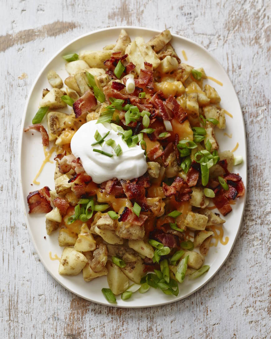 Bacon and Cheese Loaded Potatoes from www.whatsgabycooking.com (@whatsgabycookin)