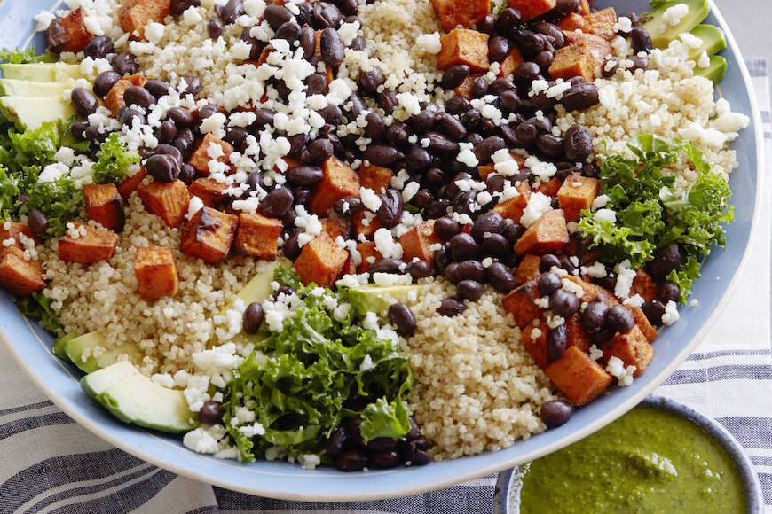Southwestern Sweetpotato Quinoa Bowl