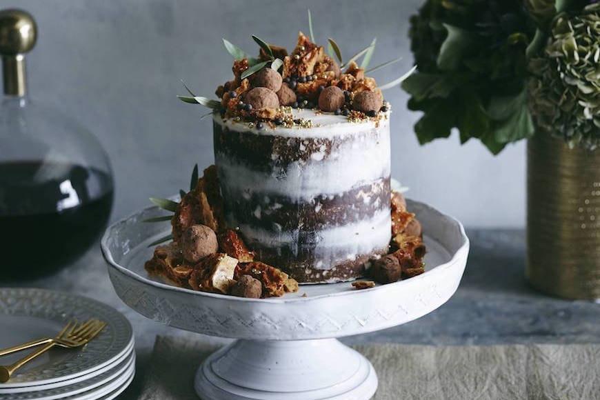 Triple Layer Pumpkin Chocolate Chip Cake