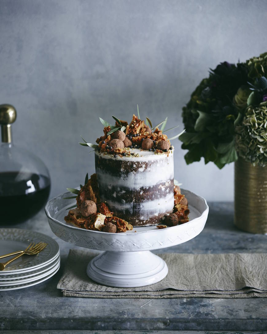 Triple Layer Pumpkin Chocolate Chip Cake from www.whatsgabycooking.com (@whatsgabycookin)