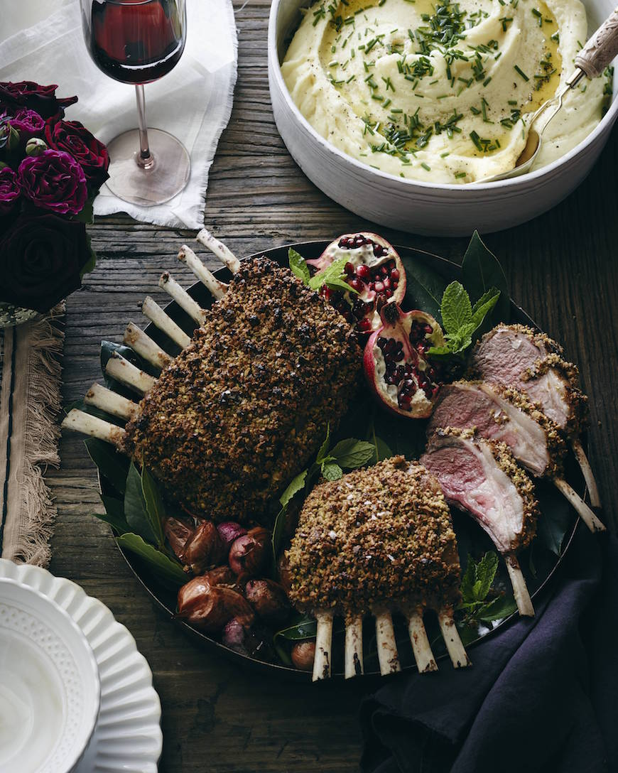 Pistachio Crusted Rack of Lamb from www.whatsgabycooking.com (@whatsgabycookin)