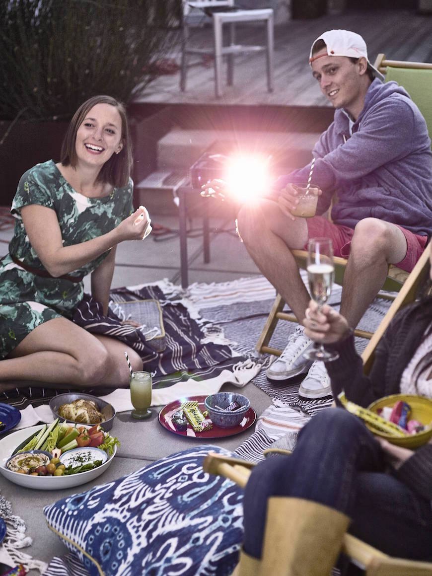 Outdoor Movie Night from www.whatsgabycooking.com (@whatsgabycookin)