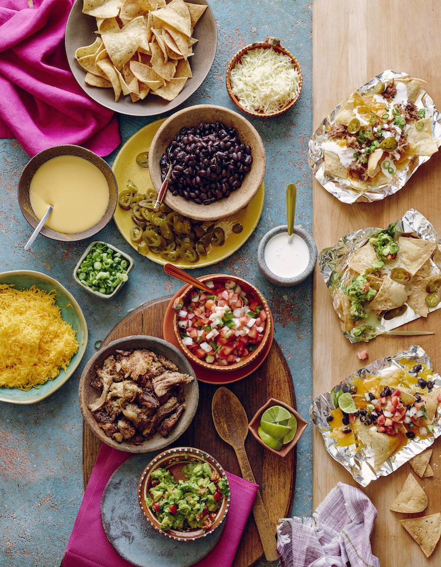 Nacho Bar / Cinco de Mayo recipes on www.whatsgabycooking.com (@whatsgabycookin)