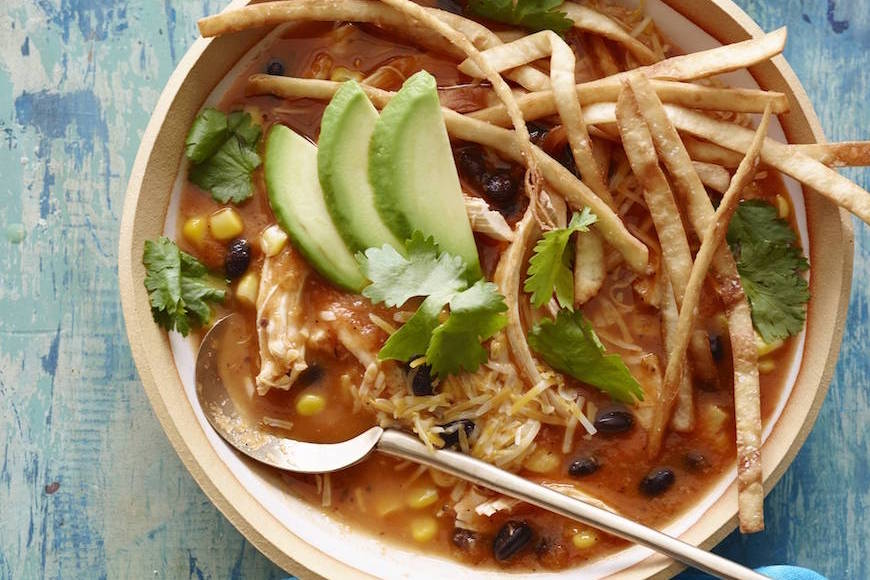 Turkey Tortilla Soup from www.whatsgabycooking.com (@whatsgabycookin)