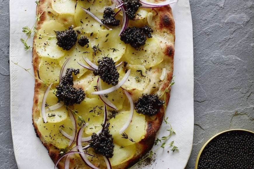 Potato Caviar Flatbread