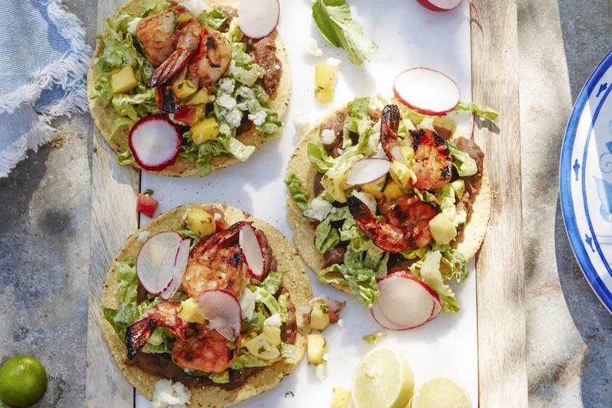 Spicy Shrimp Tostadas