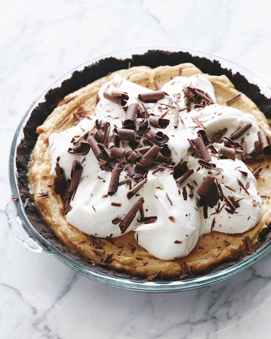 Chocolate Dusted Peanut Butter Pie from www.whatsgabycooking.com (@whatsgabycookin)
