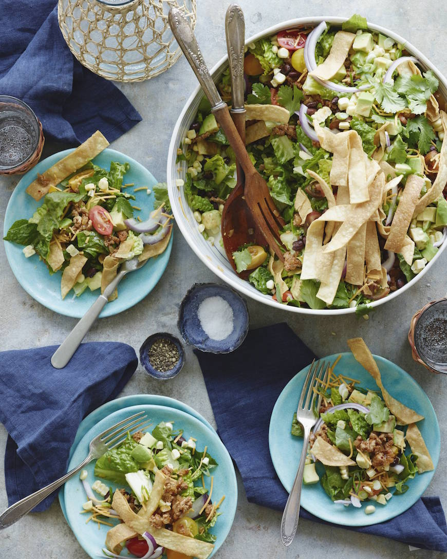 Taco Salads / Cinco de Mayo recipes on www.whatsgabycooking.com (@whatsgabycookin)