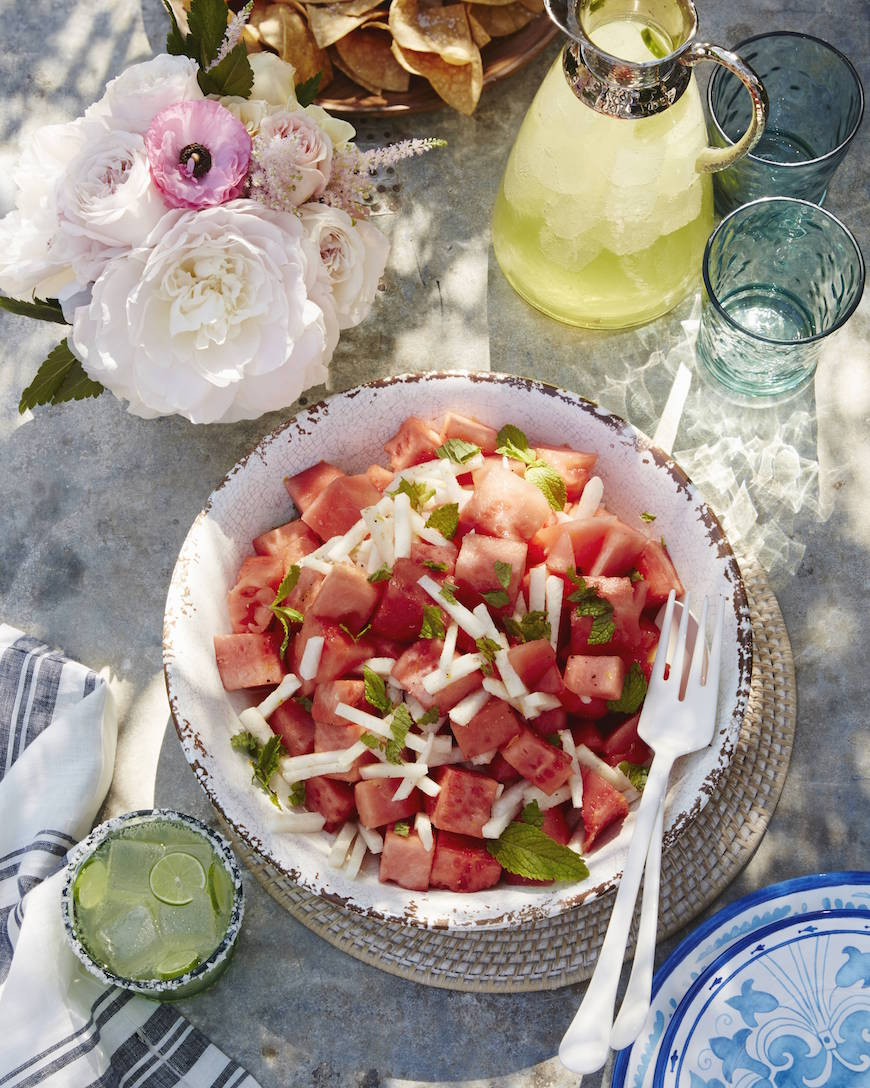 Watermelon Jicama Salad from www.whatsgabycooking.com (@whatsgabycooking)
