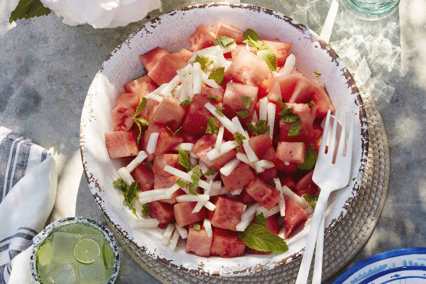 Watermelon Jicama Salad