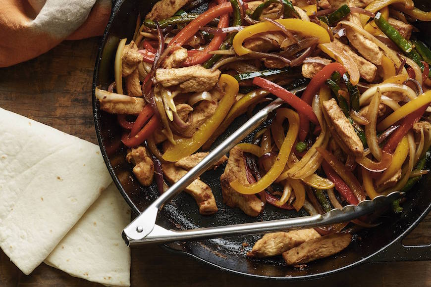 "Chicken Poblano Fajitas from www.whatsgabycooking.com ""The answer to your what the heck should I make for dinner"" question! (@whatsgabycookin)"