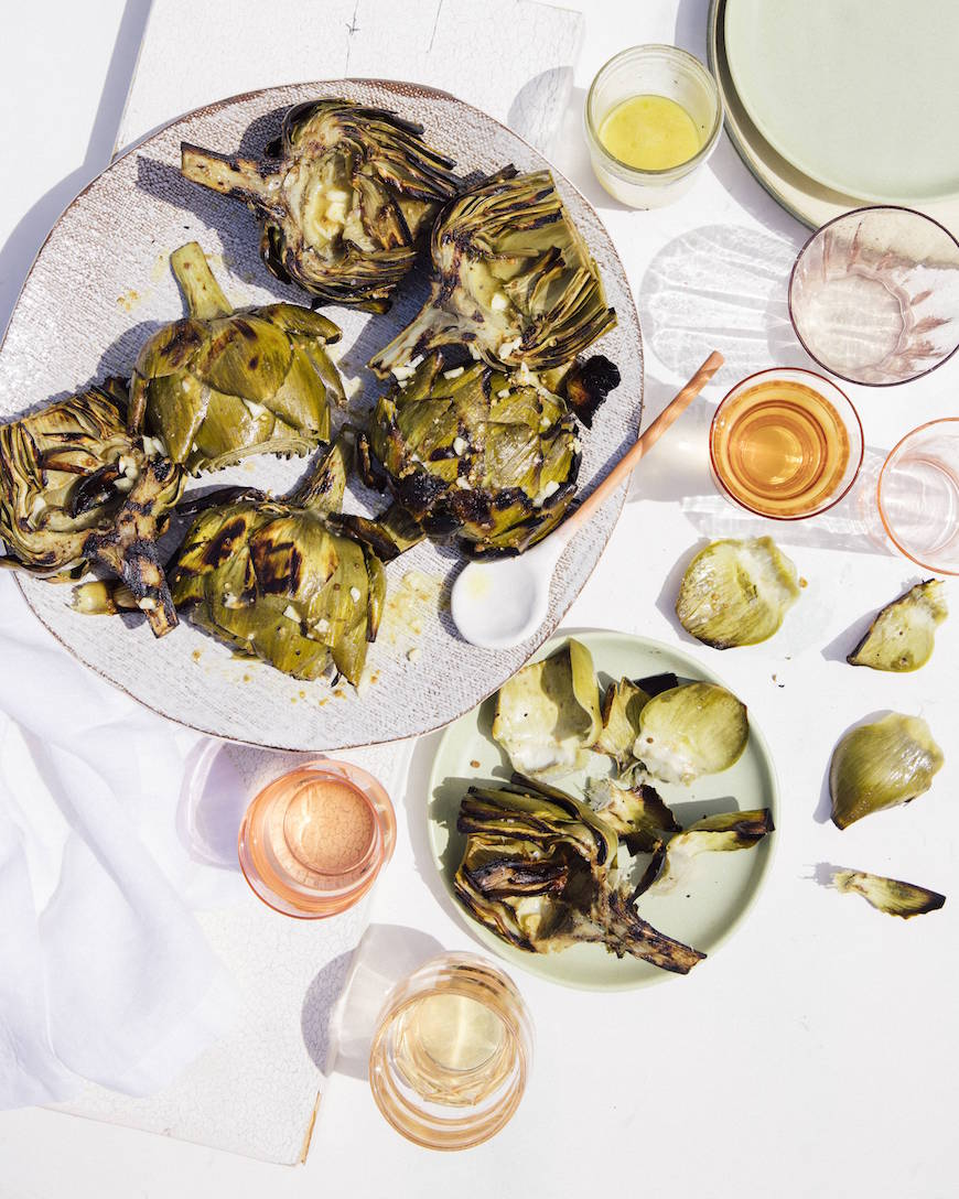 Grilled Artichokes from www.whatsgabycooking.com (@whatsgabycookin)