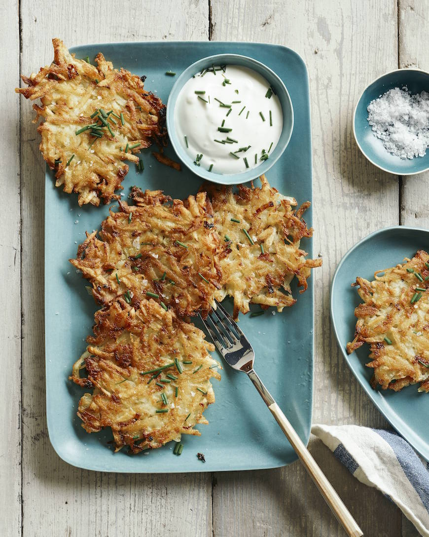 Crispy Potato Latkes from www.whatsgabycooking.com (@whatsgabycookin)