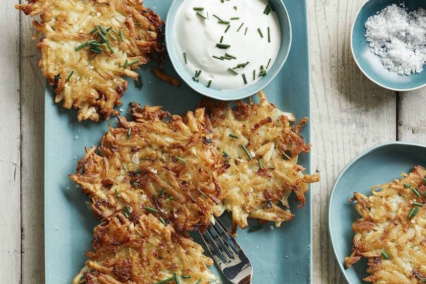 Chive Potato Latkes