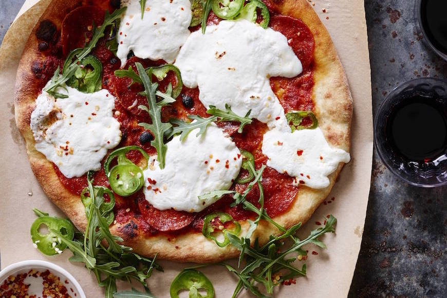 Burrata Pepperoni Pizza