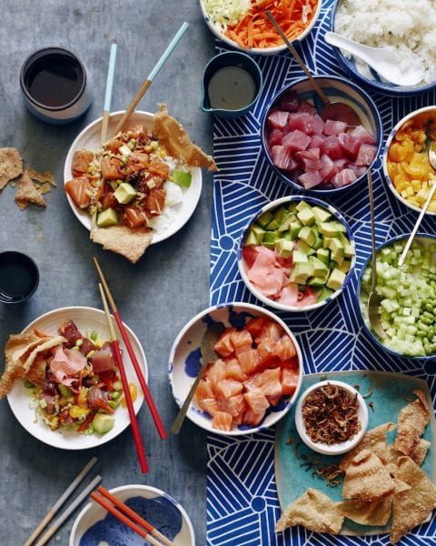 DIY Poke Bowl Bar from www.whatsgabycooking.com (@whatsgabycookin)