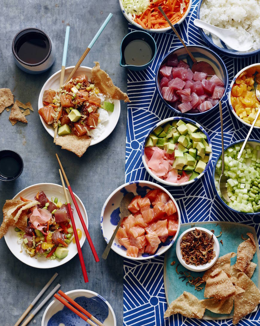 16 Healthy Recipes to kick start 2015 / DIY Poke Bowl Bar from www.whatsgabycooking.com (@whatsgabycookin)