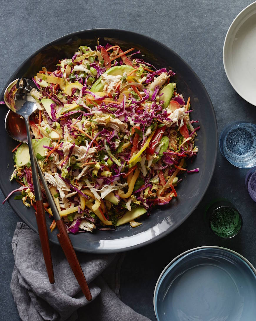 Rainbow Asian Chicken Slaw from www.whatsgabycooking.com (@whatsgabycookin)