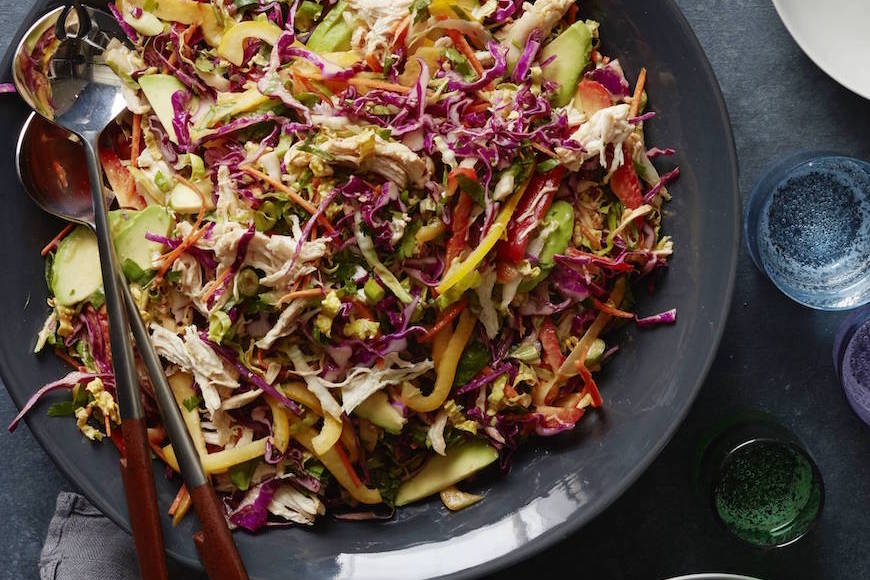 asian chicken slaw  what's gaby cooking