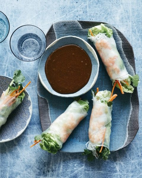 Avocado Shrimp Spring Rolls from www.whatsgabycooking.com