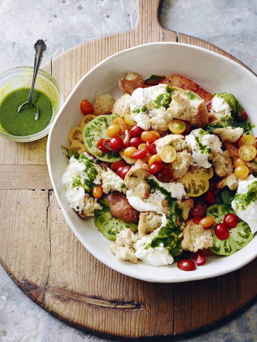 Burrata Tomato Salad from www.whatsgabycooking.com (@whatsgabycookin)